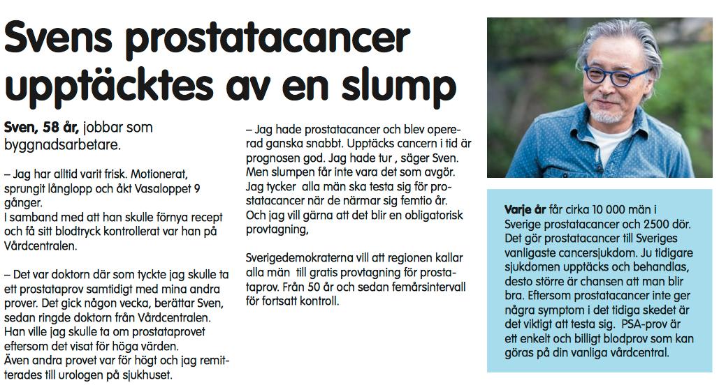 Sven, 58, har egentligen ingen koppling till prostatacancer.
