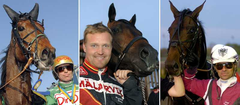 Global Investment, Reven d'Amour och Lavec Kronos har chans att vinna en plats i Elitloppet.
