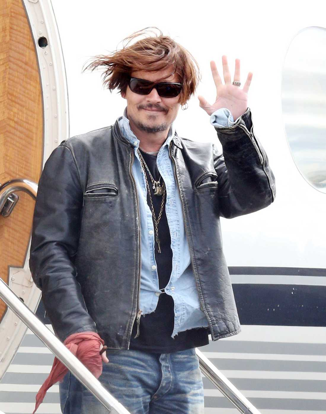Skådespelaren hamnade i blåsväder i Australien.