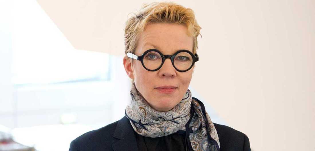 Katti Hoflin, stadsbibliotekarie i Stockholm.
