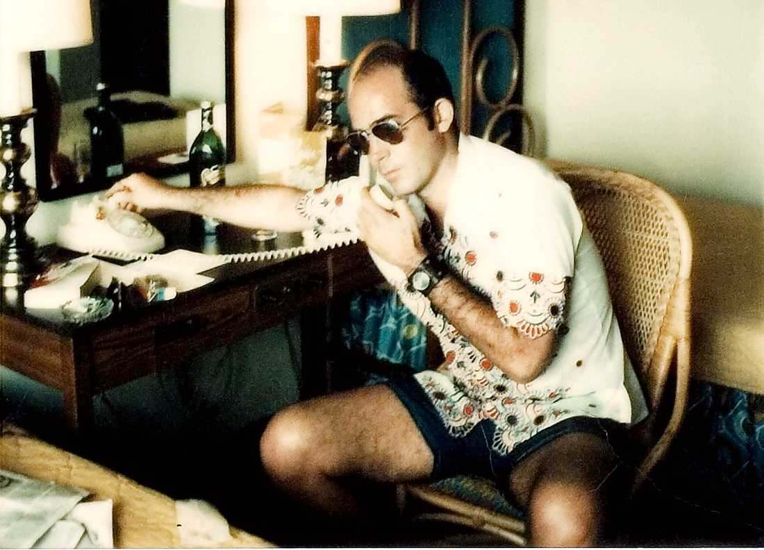 "VÄRSTINGREPORTERN  Hunter S Thompson i filmen ""Gonzo: The Life and Work of Dr. Hunter S Thompson."""