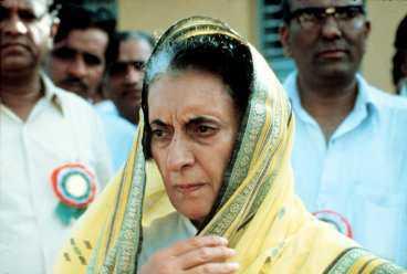 Indira Ghandi.