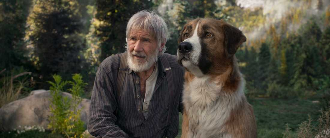 Harrison Ford och Buck.