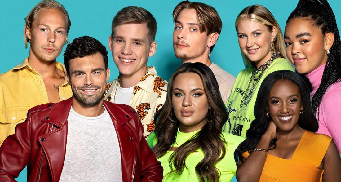 Caspar, Niklas, Herman, Paulina, Simon, Ella, Nadja och Nova.