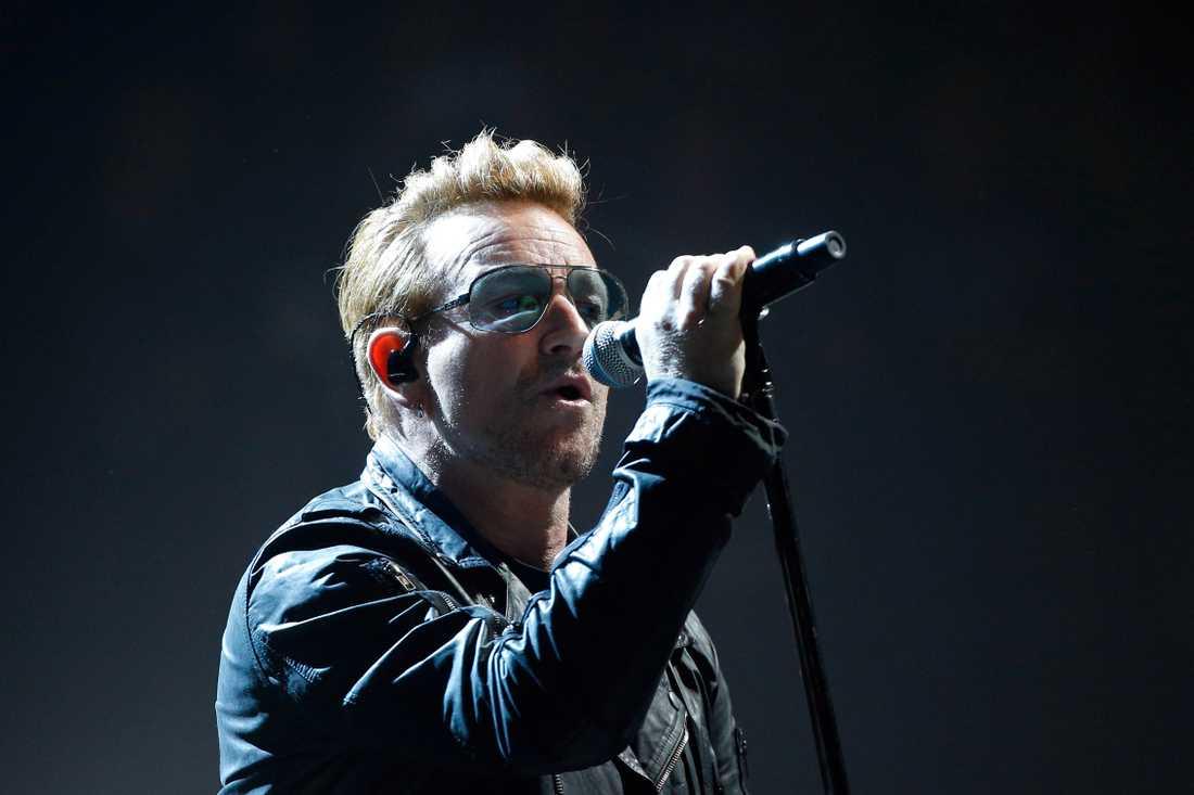 Bono, bilden är tagen vid ett tidigare tillfälle.
