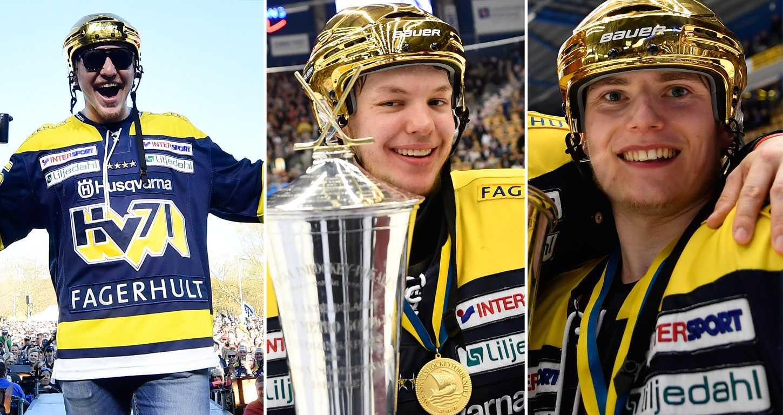 Andreas Borgman, Linus Söderström och Lias Andersson är nominerade till priset för Årets Rookie i SHL.