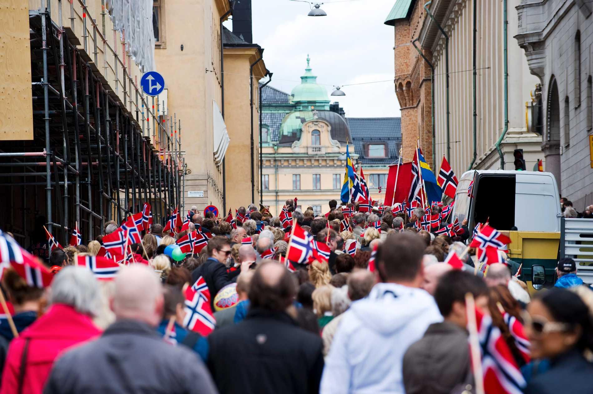 17 mai firande. I Stockholm(!). Arkivbild.