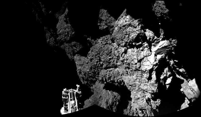 Rosettas landare, Philae, landade i alla fall tryggt på kometen 67P:s yta.