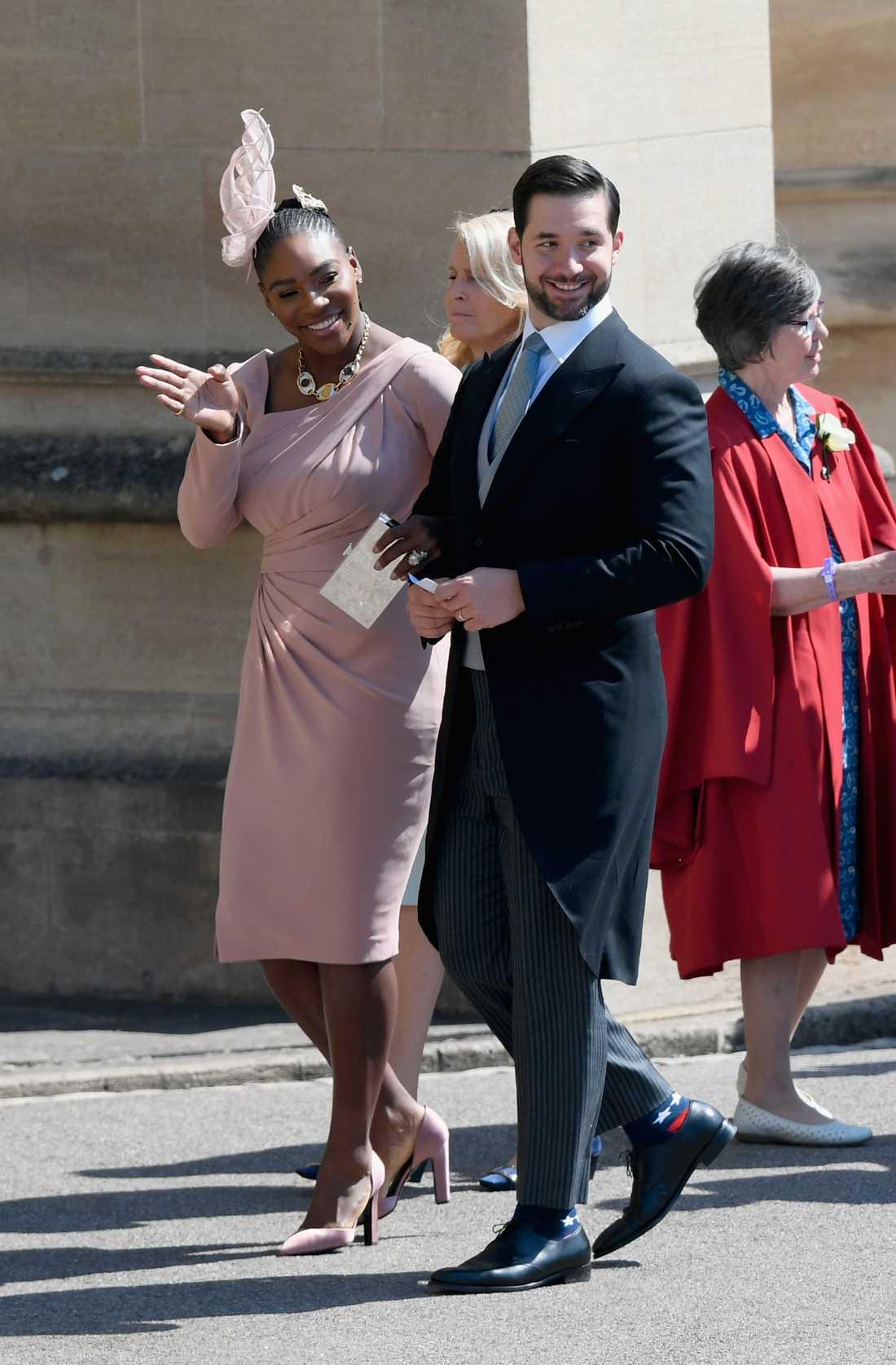 Serena Williams och Alexis Ohanian