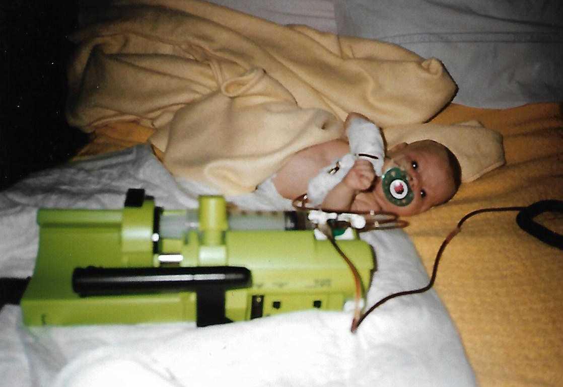 Johanna föddes med leukemi,