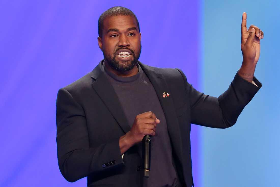Kanye West har släppt sin första video som presidentkandidat. Arkivbild.