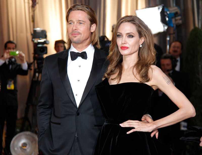 Brad Pitt och Angelina Jolie.