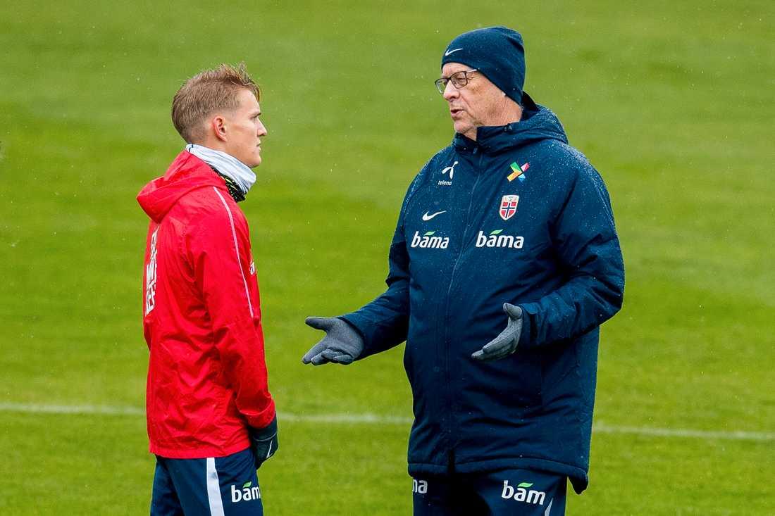 Martin Ödegaard and Lars Lagerbäck.