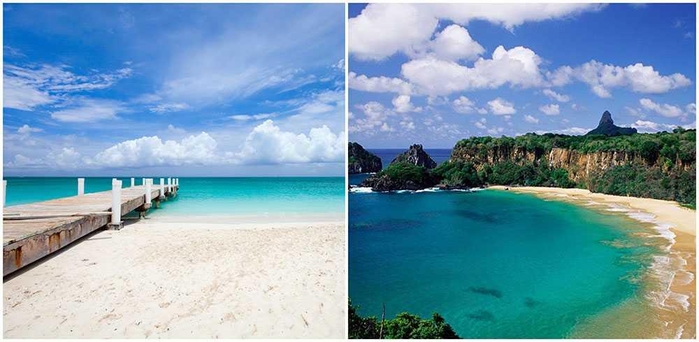 Grace Bay på Turks and Caicos och Baia do Sancho i Brasilien tillhör de bästa stränderna i världen.