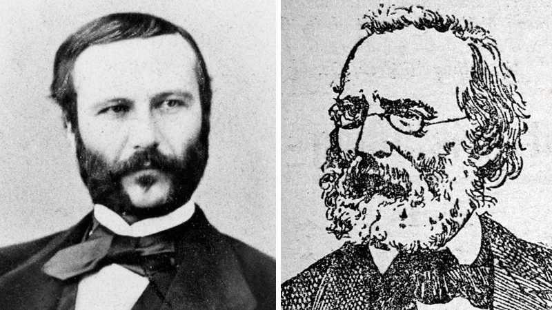 Henri Dunant och Frédéric Passy fick det första fredspriset som delades ut 1901. De grundade Röda Korset respektive Franska Freds Föreningen.