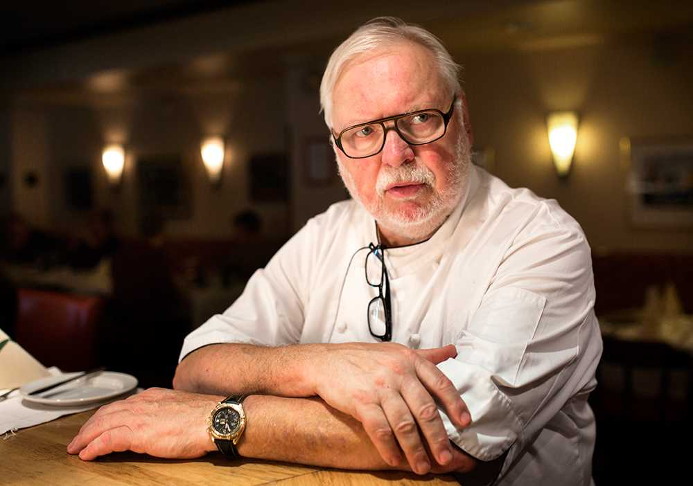 """Leif Mannerström, 73 år, krögare, kock, Stockholm """"Det där klarar de så bra själv. Ta det bara lugnt så går det bra."""""""