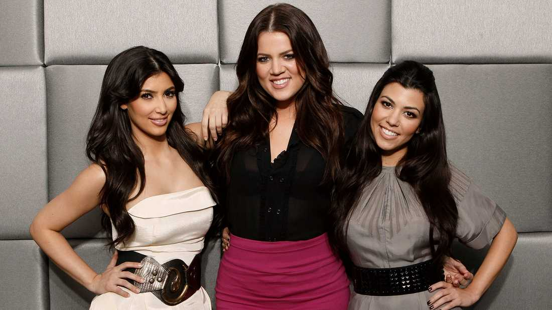 "Kim, Khloe och Kourtney i ""Keeping up with the Kardashians""."