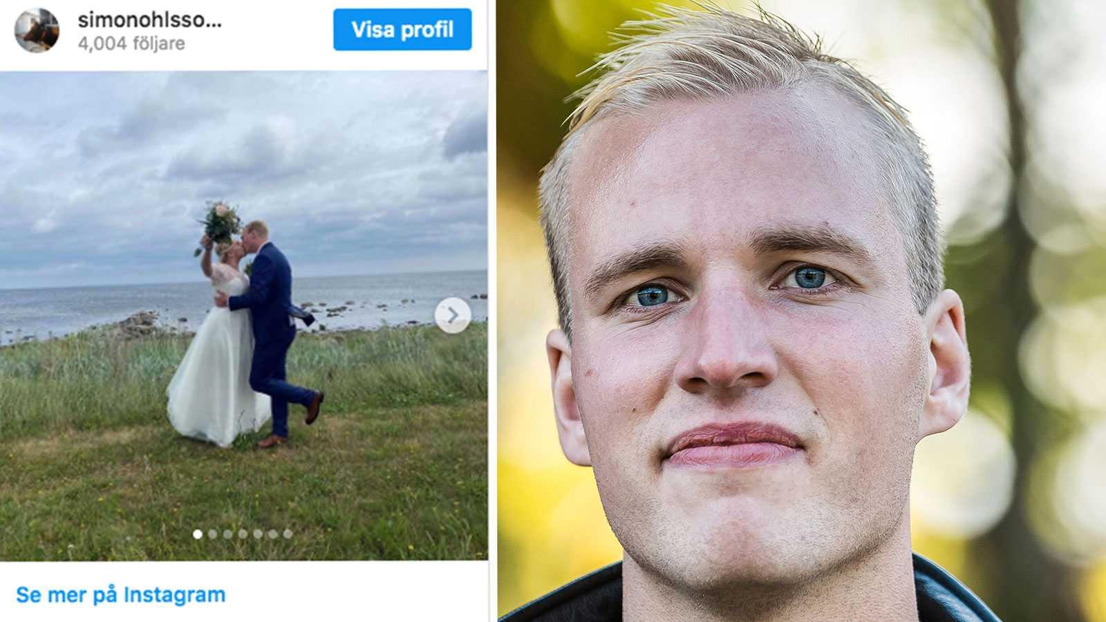 """Bröllopslycka för """"Bonde söker fru""""-Simon"""
