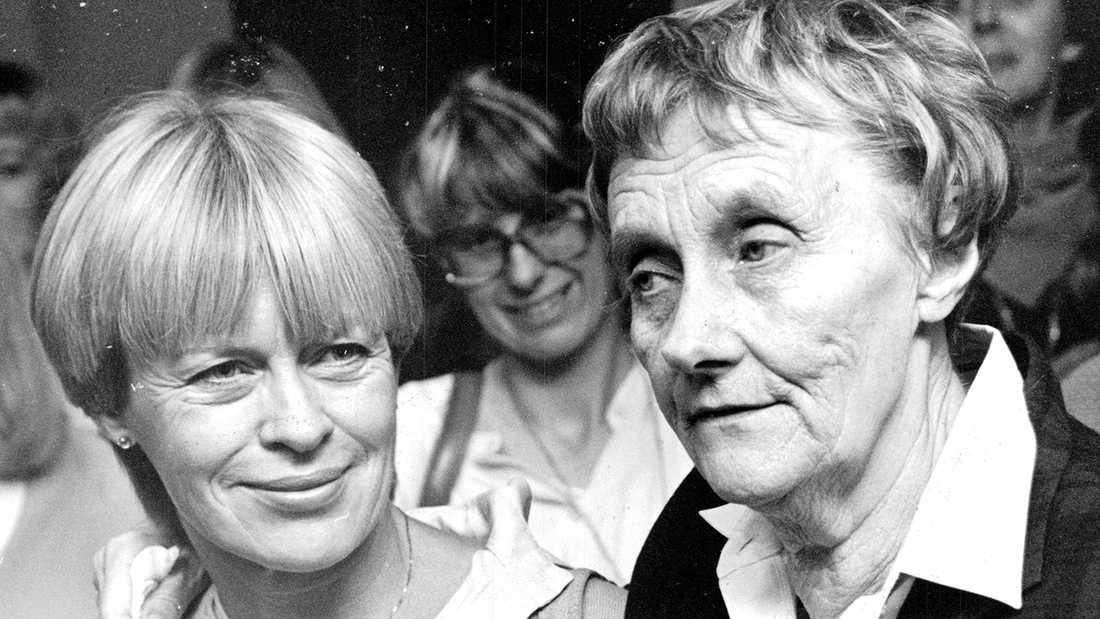 Ilon Wikland och Astrid Lindgren.