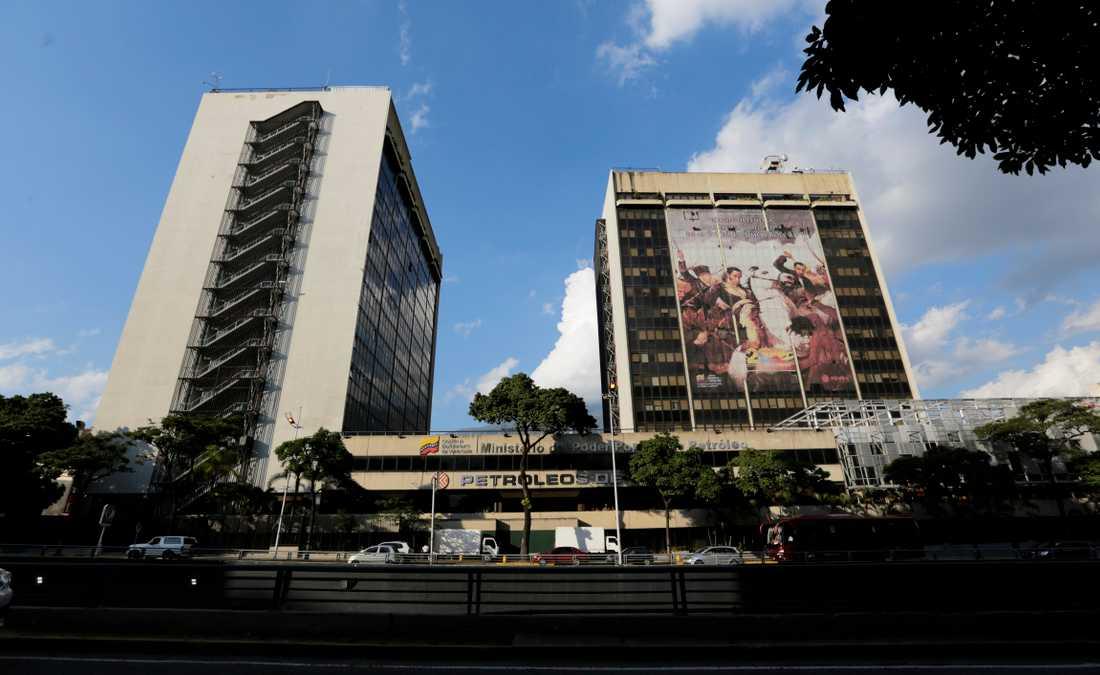 Venezuelas statliga oljejätte PDVSA:s högkvarter i Caracas.