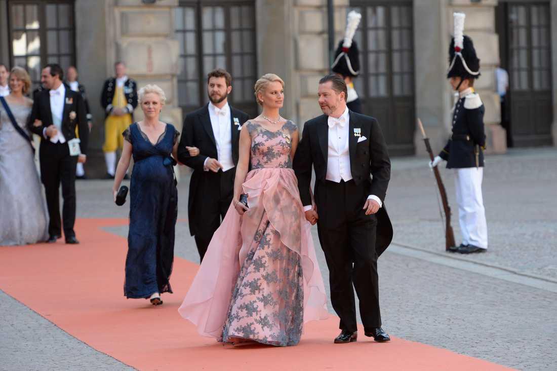 Gustaf Magnuson med Vicky Andrén.