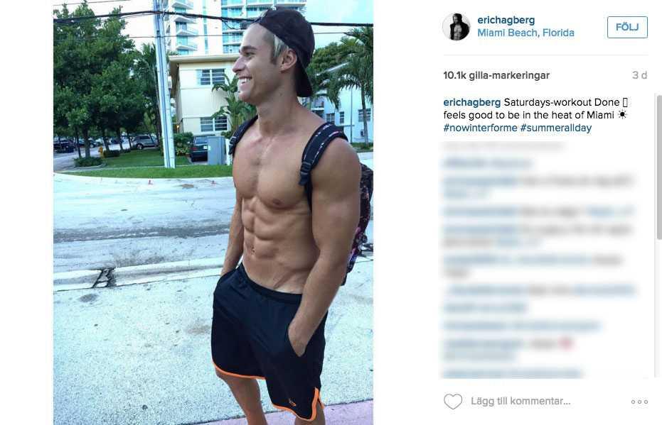 Eric på sin Instagram.