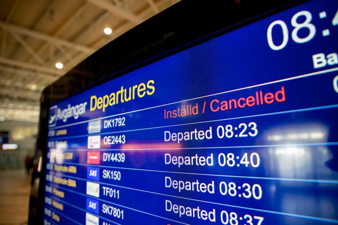 Klockan 05 på måndagsmorgonen meddelade Ving att alla flygningar med Thomas Cook ställs in.