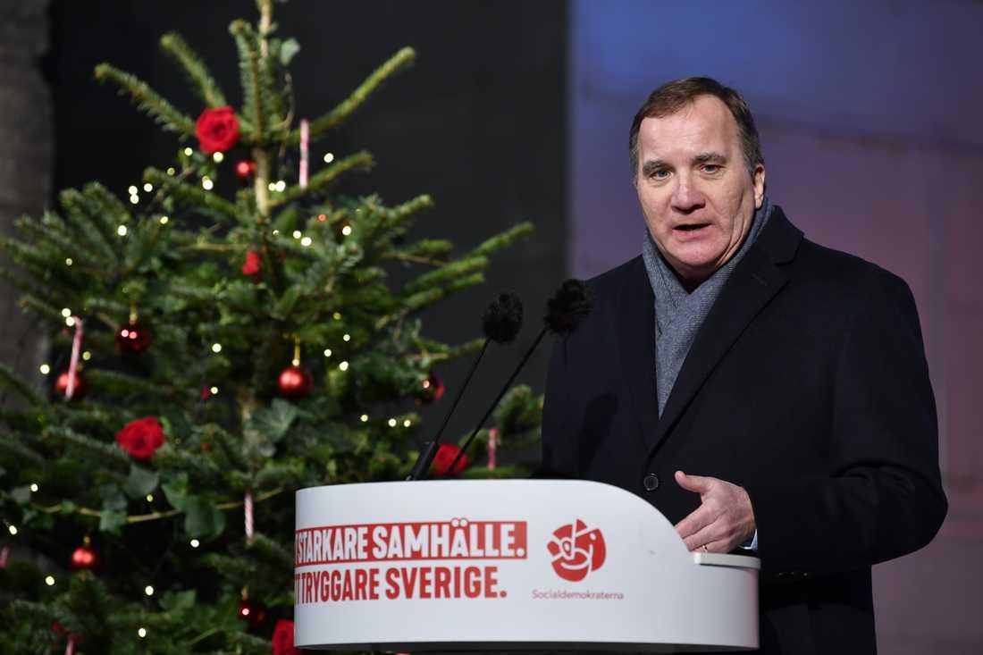 Stefan Löfvens jultal var ett försvarstal för Januariavtalet.