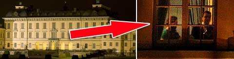 VICKEN FEST! Här på Drottningholms slott firade kronprinsessan Victoria och Daniel Westling sin förlovning i natt med en middag för de allra närmaste. Foto: Magnus Wennman