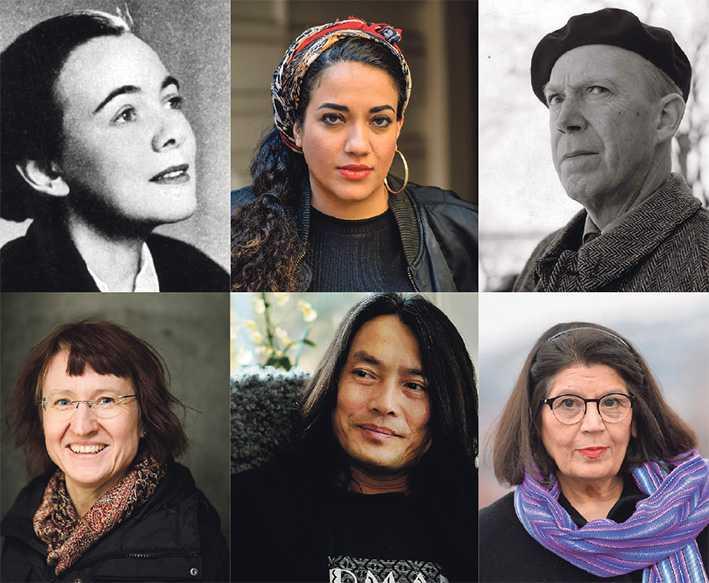 vilka får vara med? Karin Boye, Athena Farrokhzad, Gunnar Ekelöf, Åsa Maria Kraft, Li Li och Jila Mossaed.