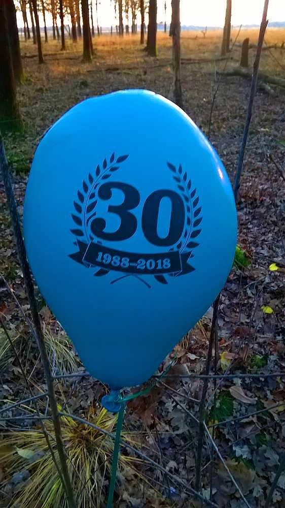 Ballongen från butikens firade hittades i Nederländerna.
