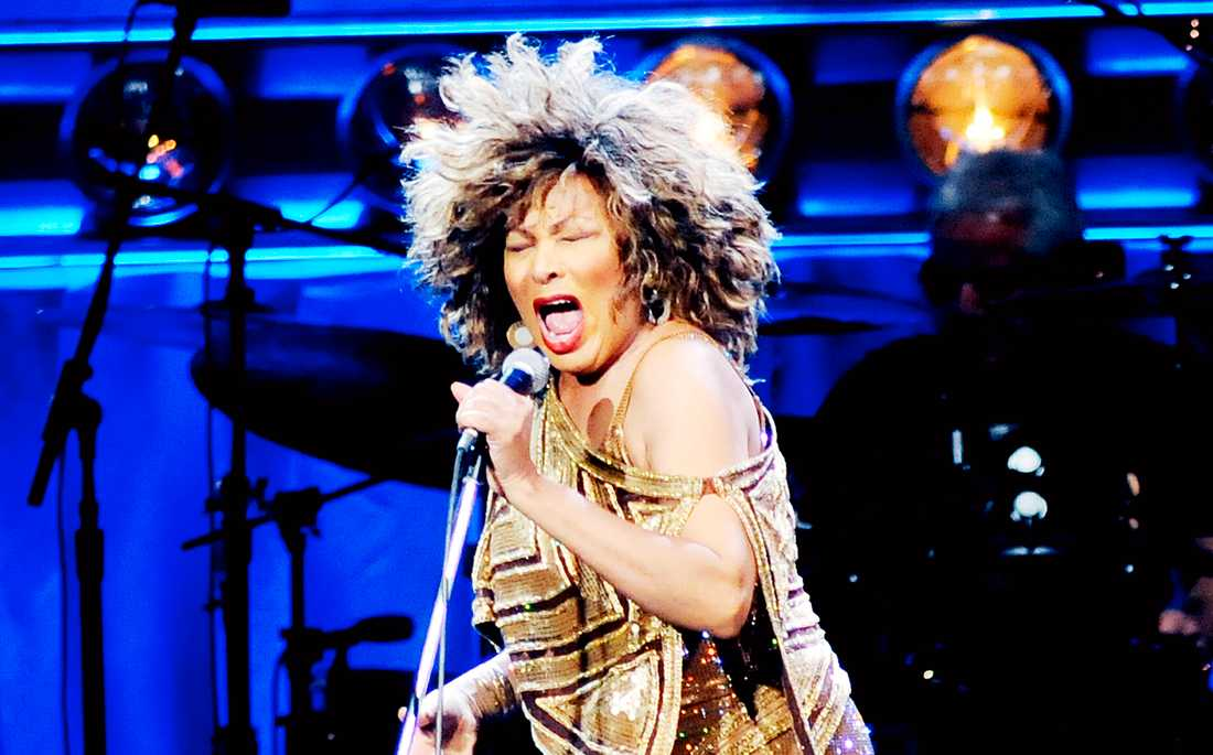 Tina Turner på Globen i Stockholm 2009.