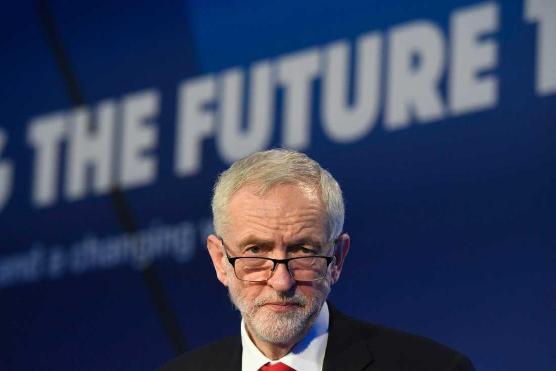 Jeremy Corbyn har lett Storbritanniens största oppositionsparti, Labour, sedan 2015. Han arbetar nu för en ny folkomröstning om brexit. Arkivbild.