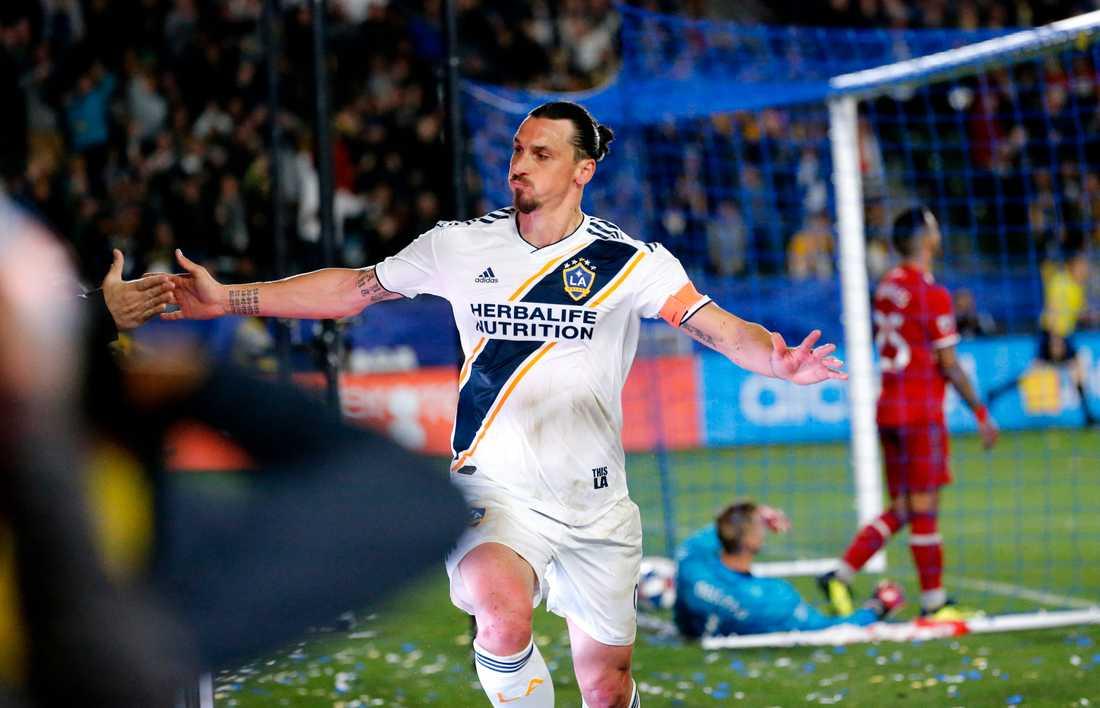 Zlatan är LA Galaxys stora stjärna.
