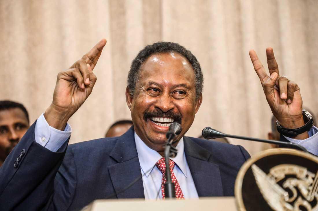 Sudans premiärminister Abdalla Hamdok presenterar landets övergångsregering efter president Omar al-Bashir och det militärstyre som störtade den auktoritäre ledaren.