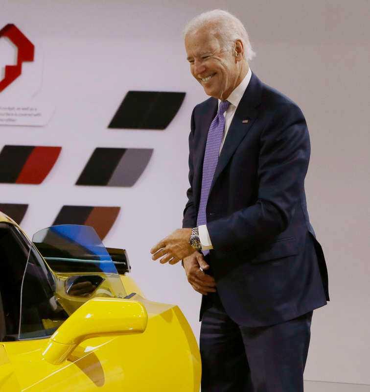 USA:s vice president Joe Biden blev så här glad...