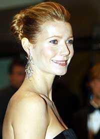 Gwyneth Paltrow innan hon blev gravid.