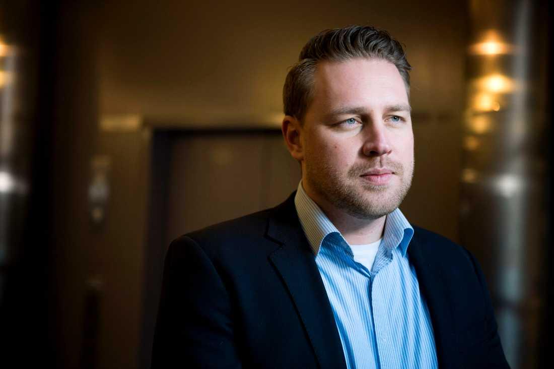 Sverigedemokraternas gruppledare Mattias Karlsson.