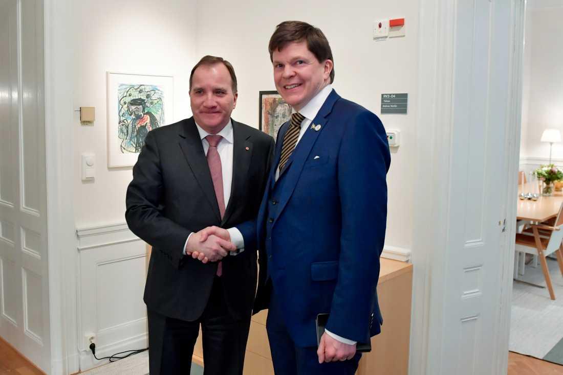 Stefan Löfven möter talman Andreas Norlén