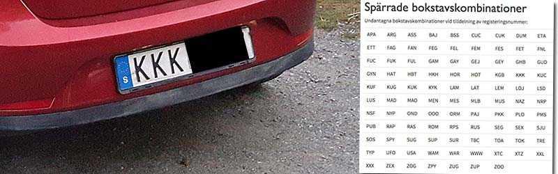 En Aftonbladet-läsare visar upp sin bil med registreringsskylten KKK.