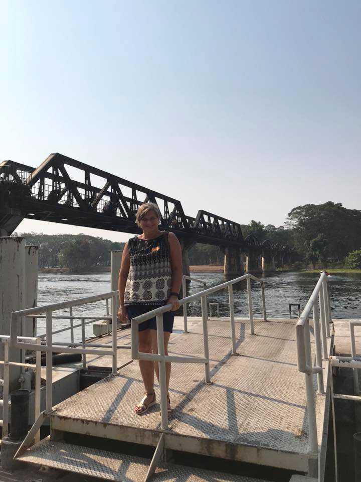 Bron över floden Kwai i nuvarande Thailand.