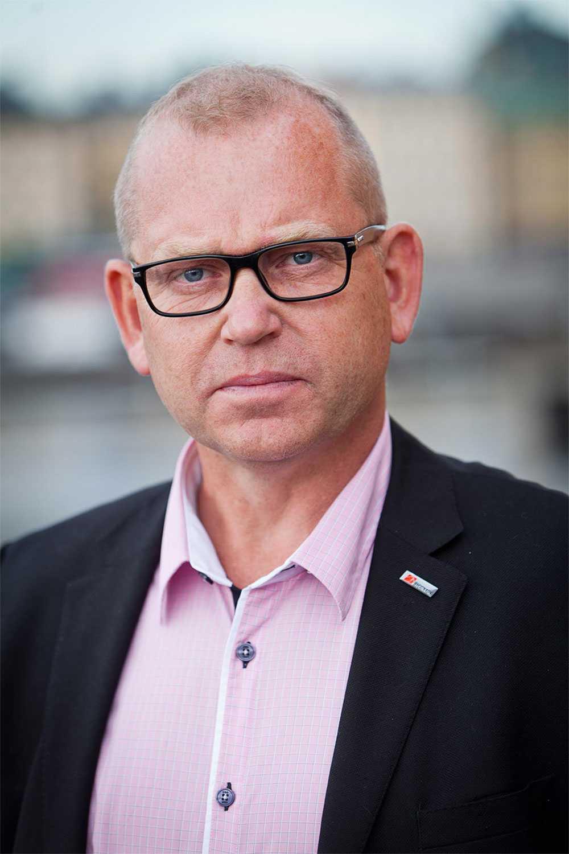Byggnads ordförande Johan Lindholm.