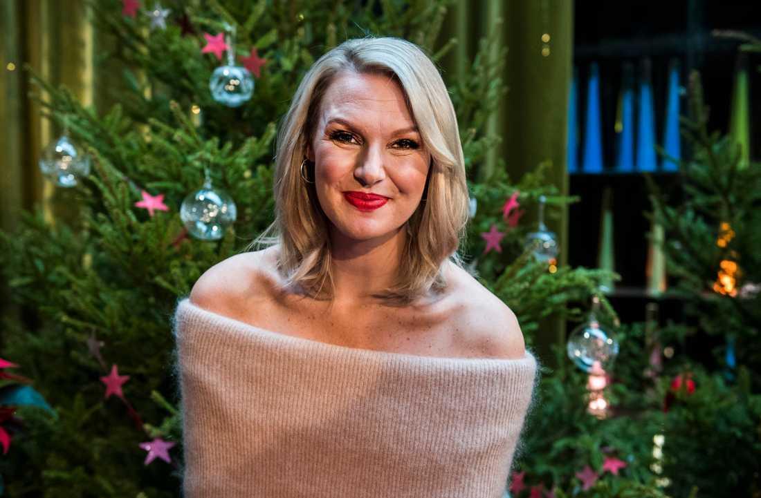 Sanna Nielsen som julvärd i SVT 2016.