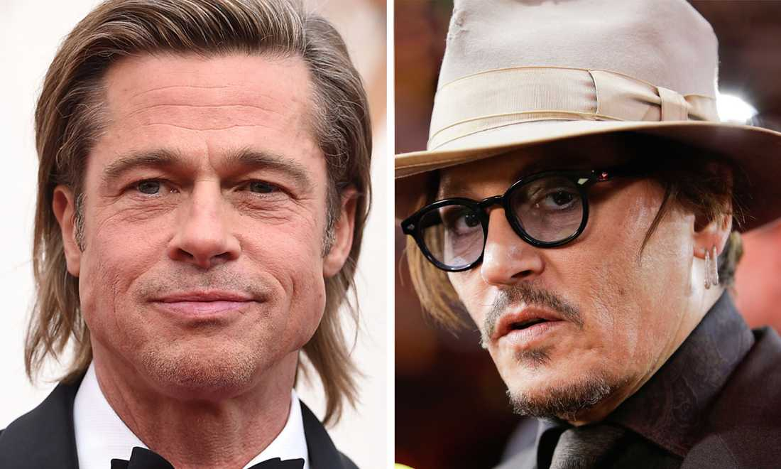 Brad Pitt och Johnny Depp har hanterat sina offentliga skandaler på olika sätt.