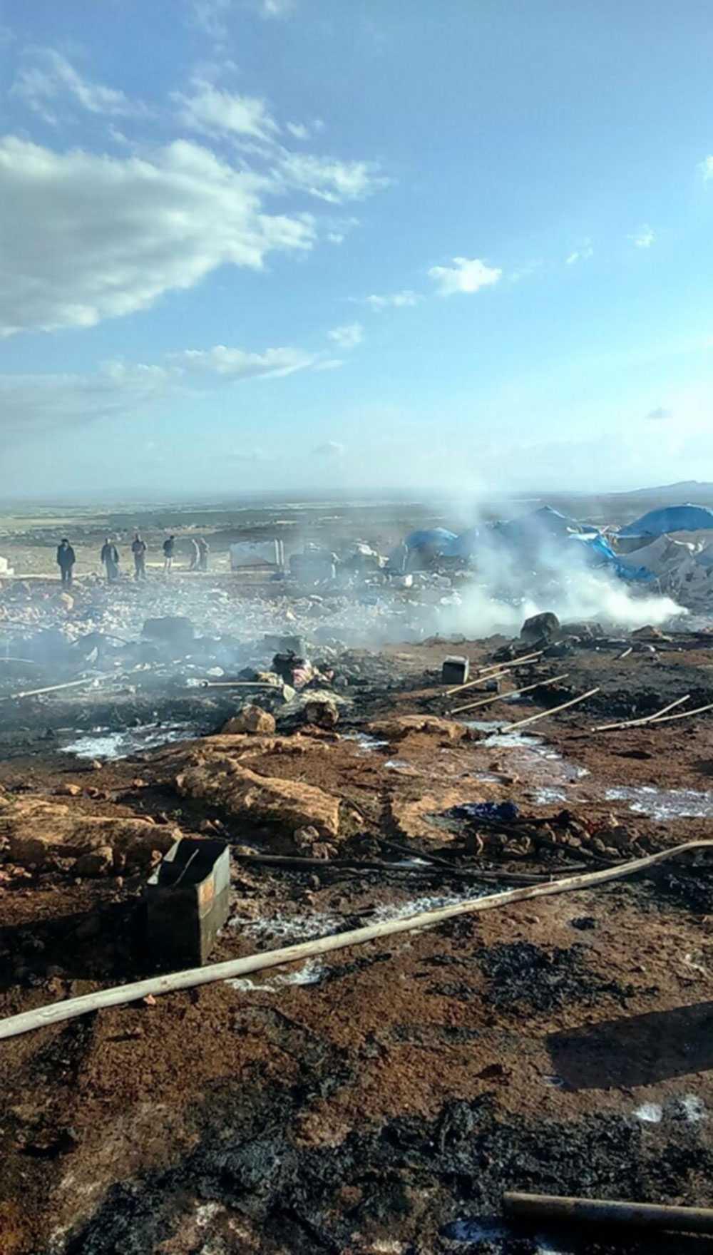 Flyktinglägret i norra Syrien.