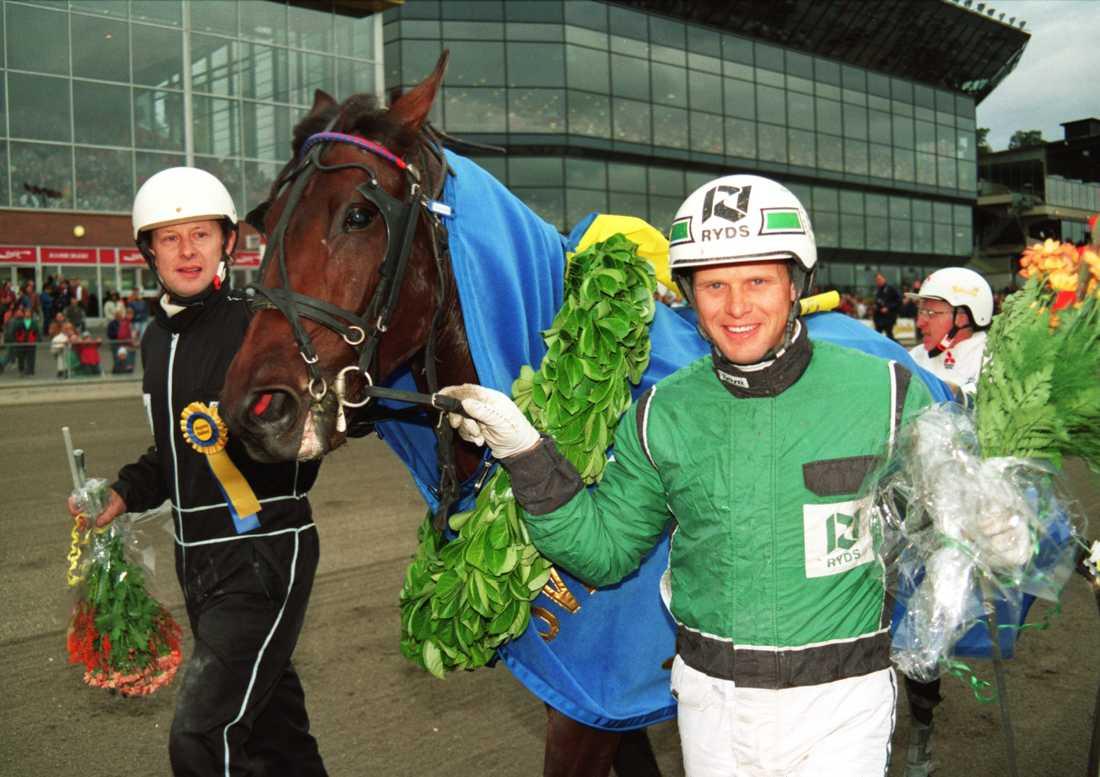 Åke Svanstedt och Zoogin efter segern i Kriteriet.