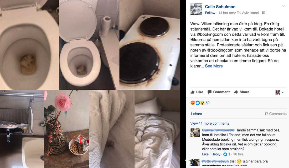 Calle Schulman har lagt upp bilder från skräcksemestern