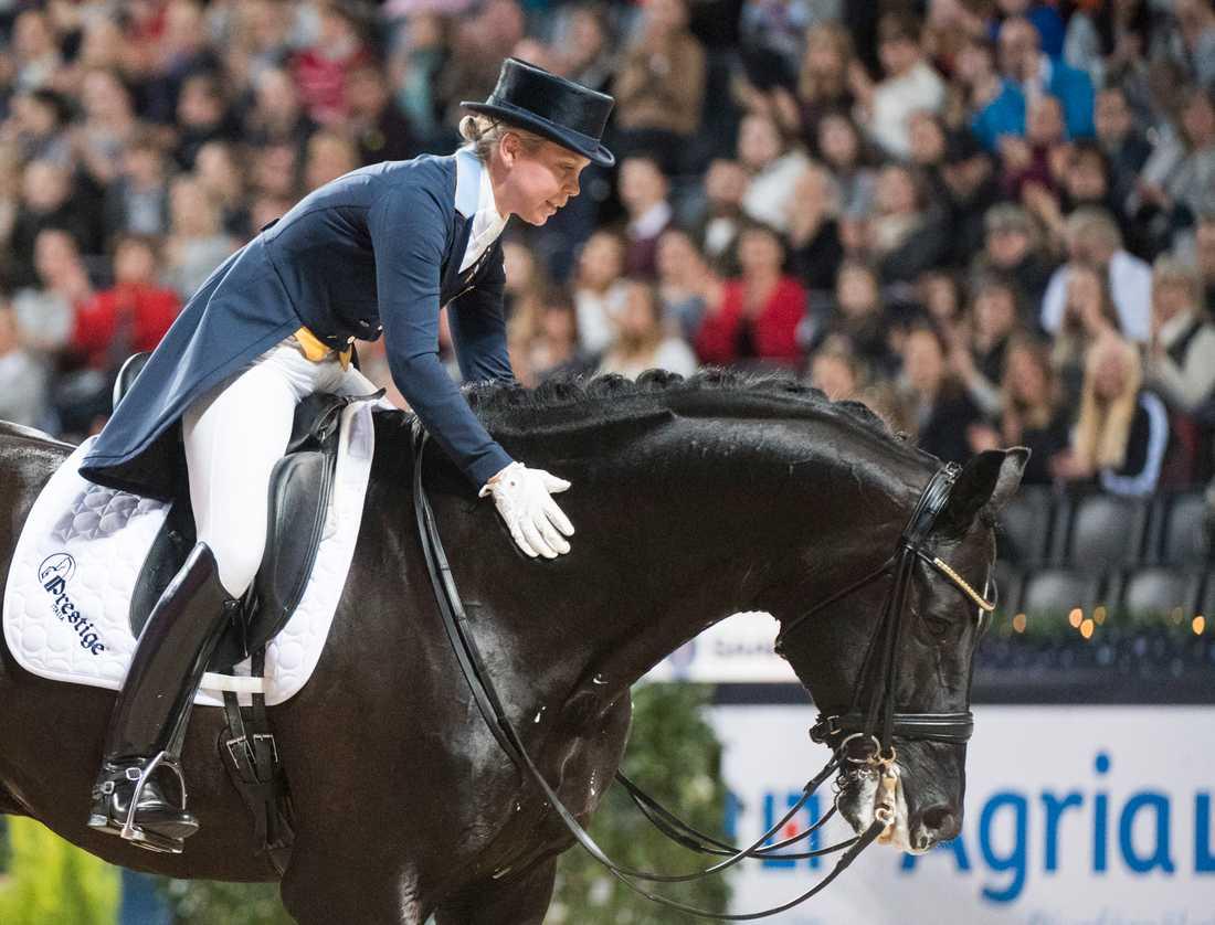Therese Nilshagen och EM-hästen Dante Weltino Old. Arkivbild.