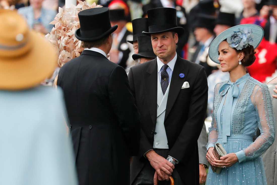 Prins William och hertiginnan Kate på hästkapplöpningen Royal Ascot.