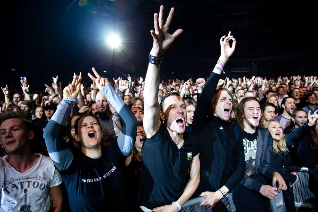 Publiken under Ghosts spelning i Scandinavium i Göteborg.
